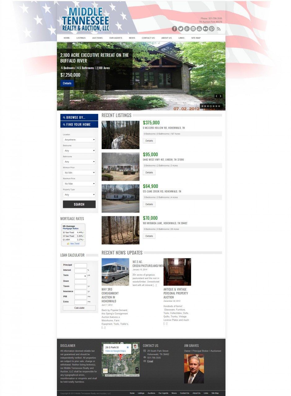This website was designed in Summer of 2013 for Jim Graves, by Ryan C. Stebbins.
