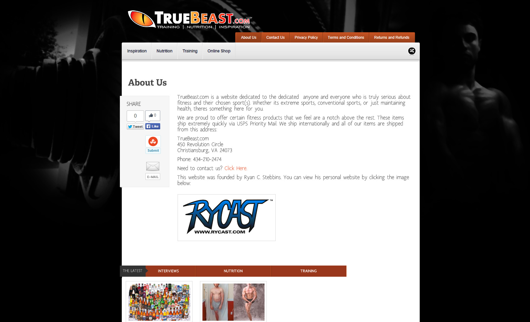 TrueBeast.com - About Us Page
