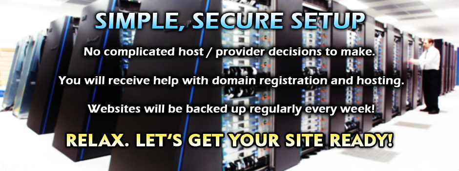 Simple, Secure Website Hosting and Domain Name Setup