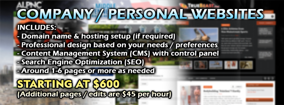 Order a Company or Personal Website