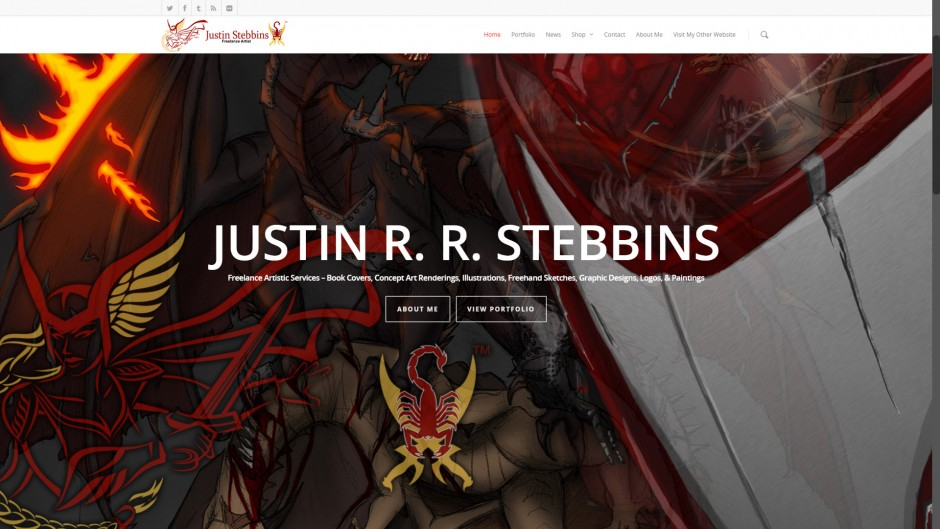 JustinStebbins.com - Designed in 2014 by Ryan C. Stebbins