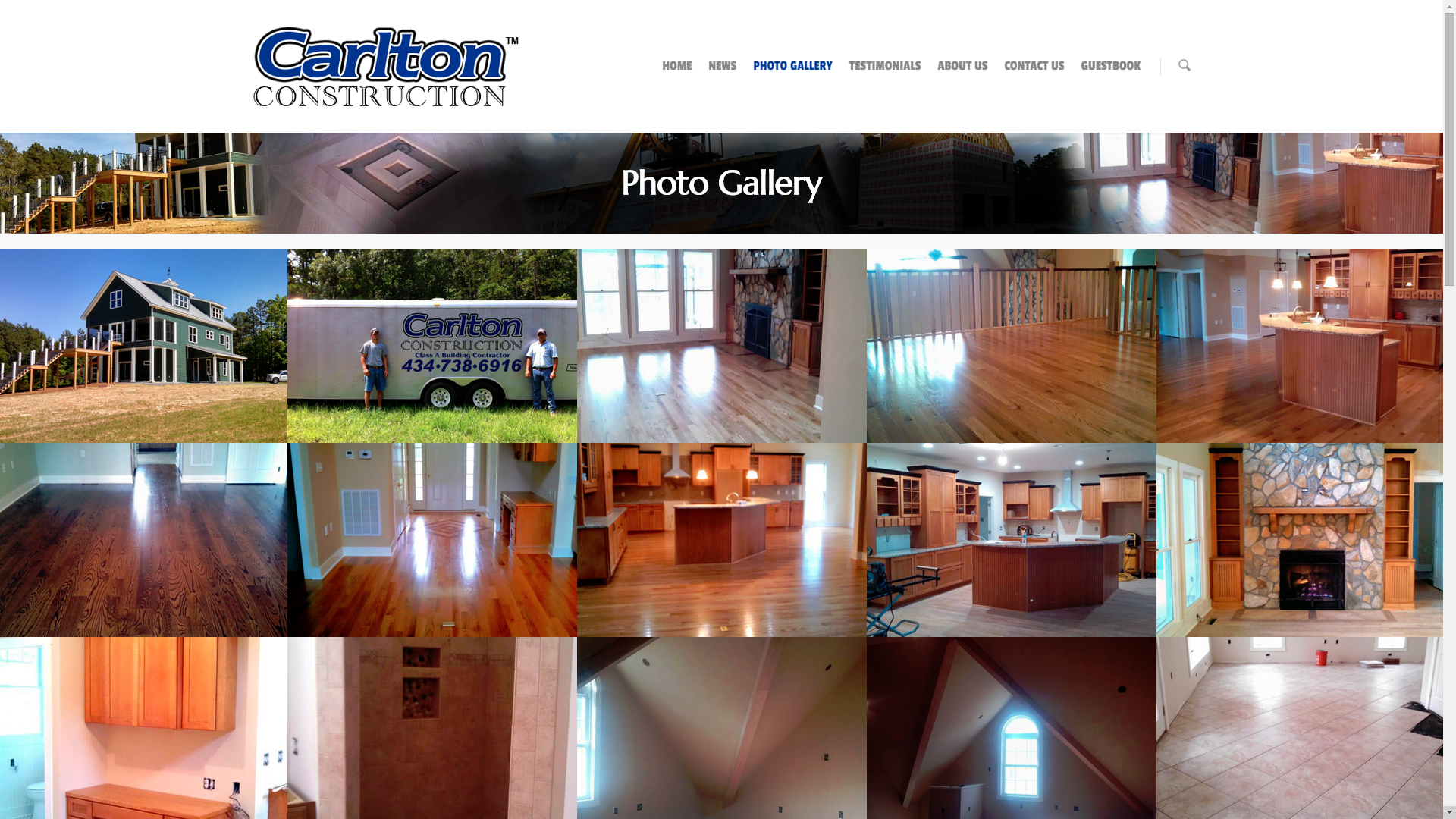 The photos page includes fully responsive images in a gallery with images that can be enlarged in a lightbox window.