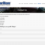 The contact page features a fully-functional contact form.